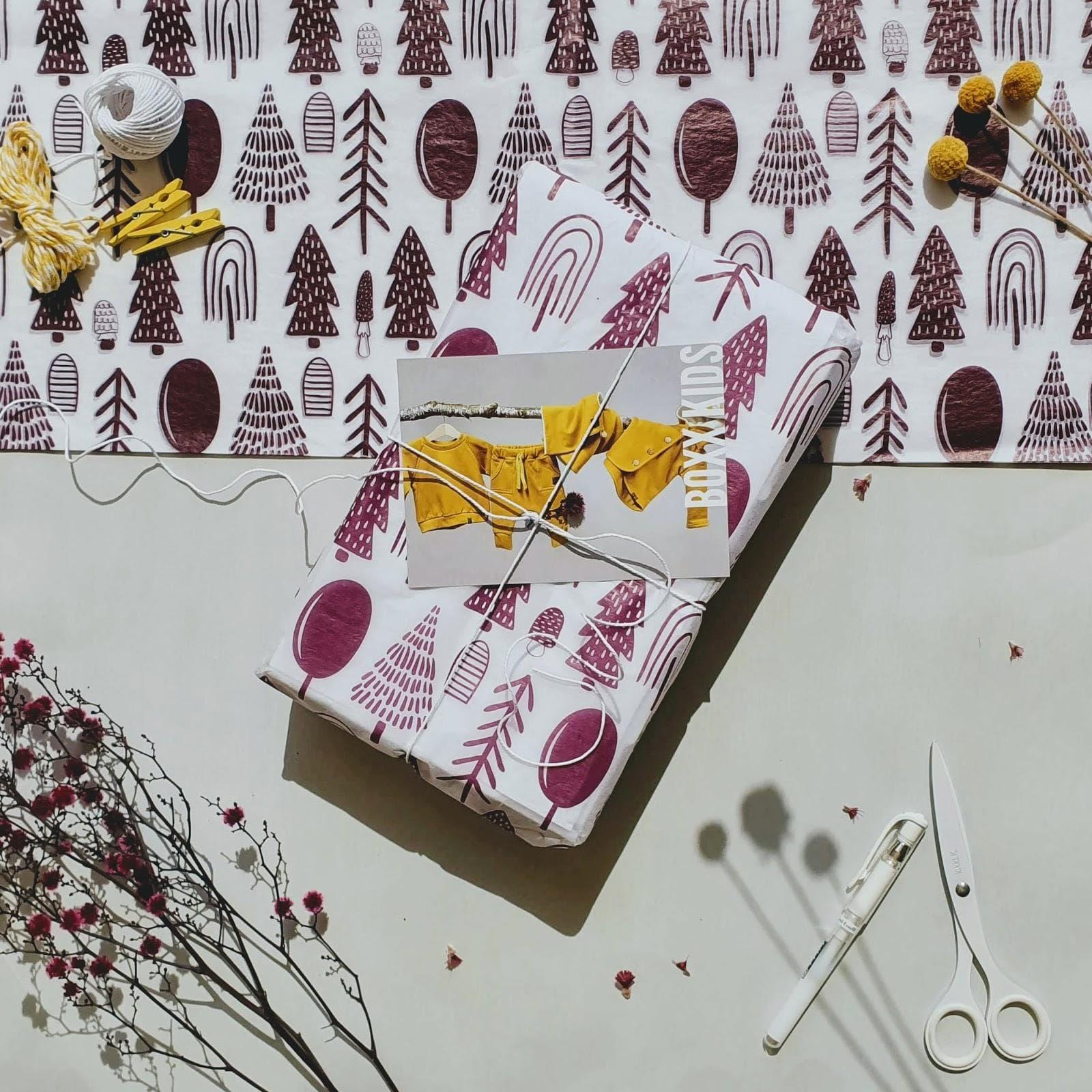Boxx Kids custom tissue paper design