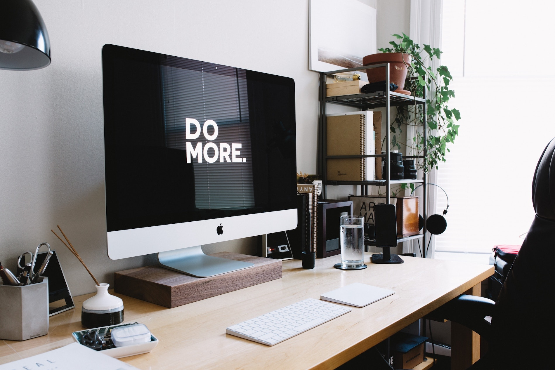 Desktop screen with 'do more' screensaver