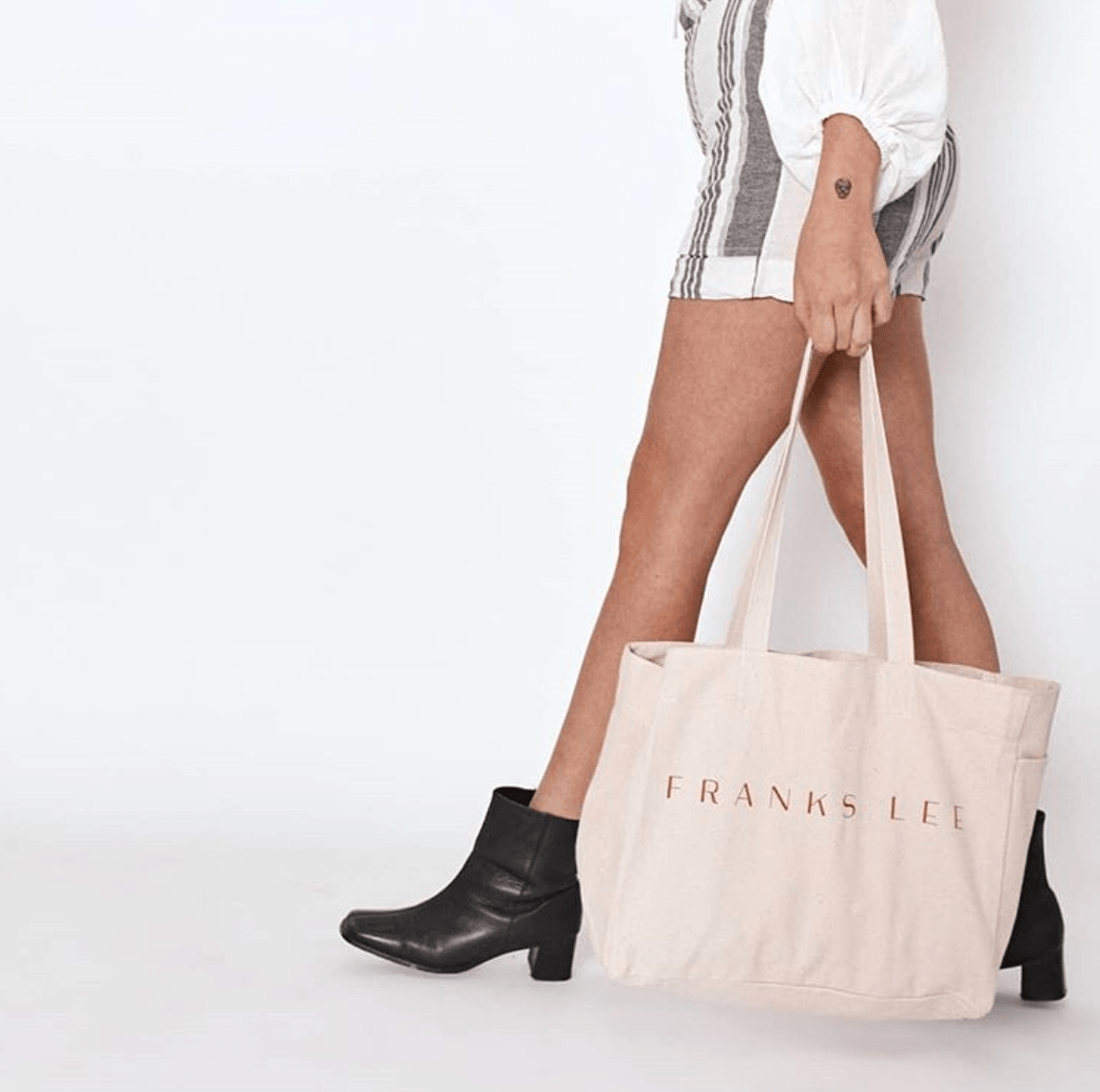 Model carrying Franks Lee bag