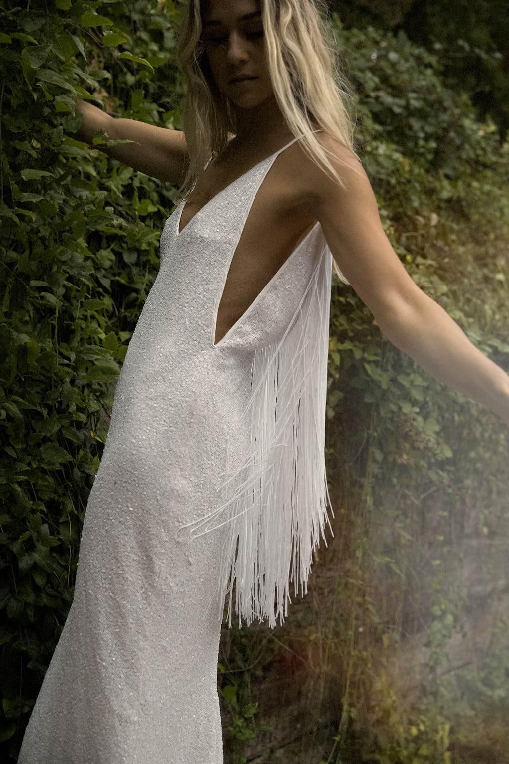 Model wearing & For Love wedding dress