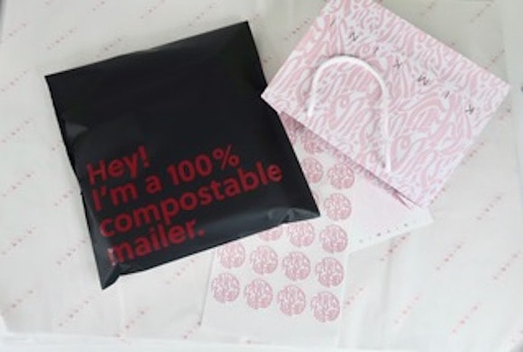 KIMKINI custom tissue paper, custom stickers and compostable mailer