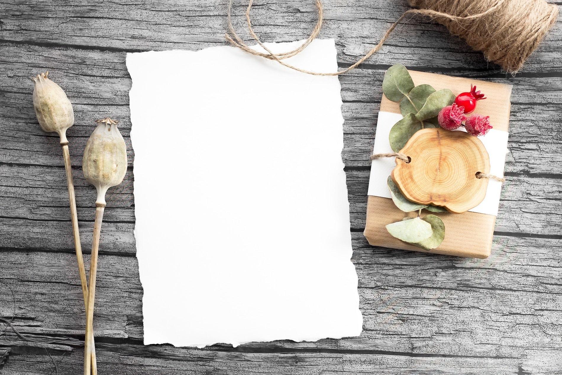 Sheet of blank white paper
