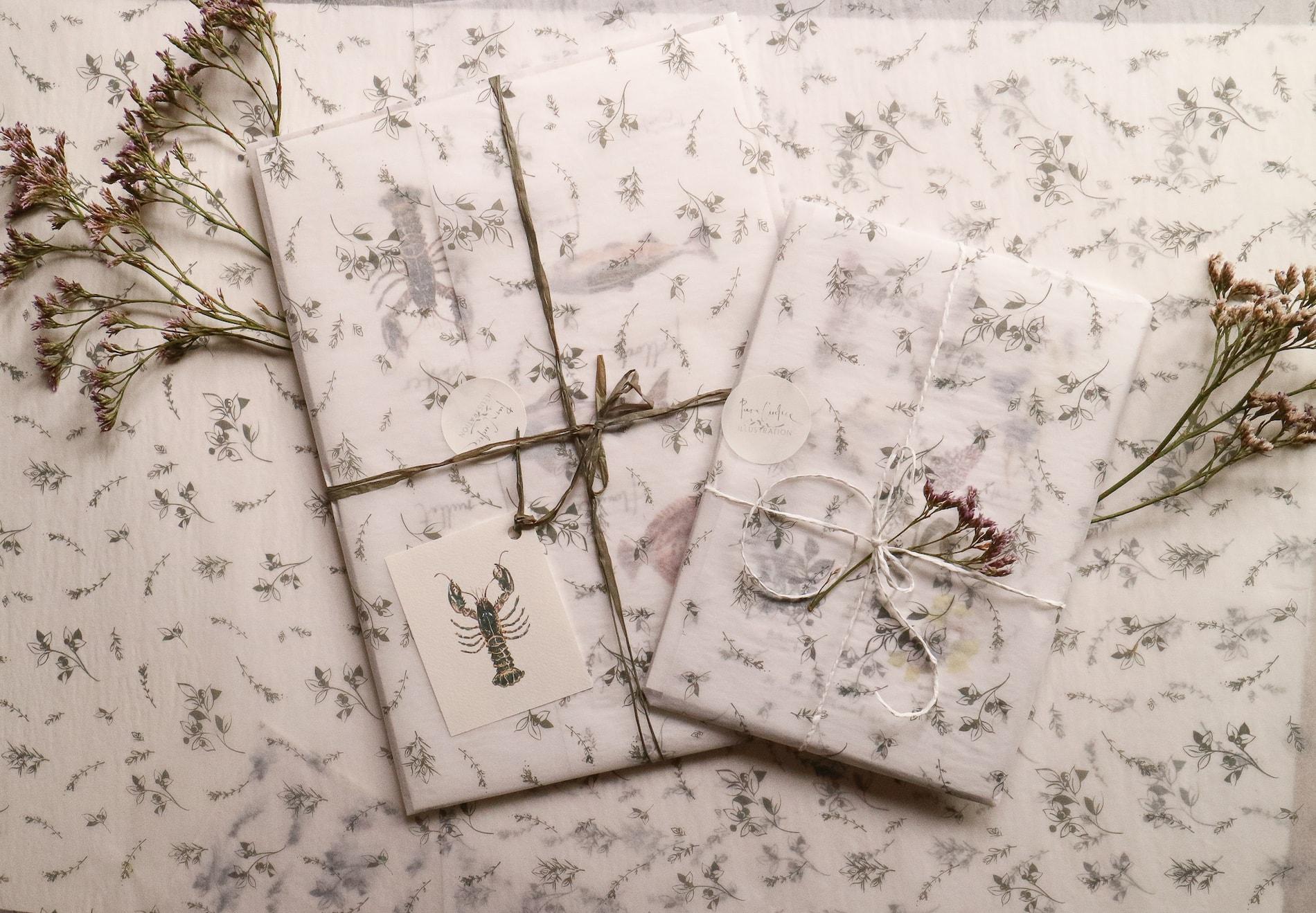 Piera Cirefice's custom tissue paper